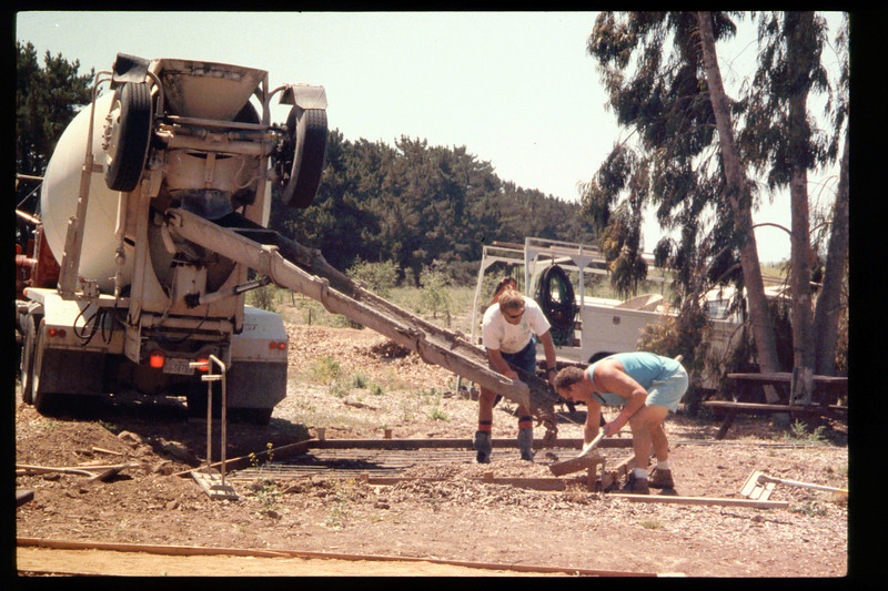 The Goleta Lions Club commissioned the construction of an 11x14-foot pad near the flagpole, to be used for the preparation and sale of food during special events, or for other museum activities, 1994. acc2005.001.1949