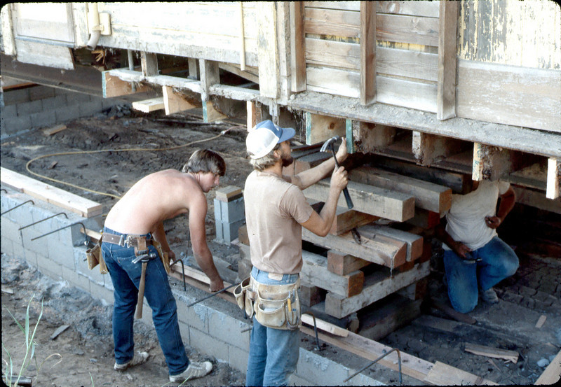 Apprentice carpenters, Feb. 1982. acc2005.001.0155