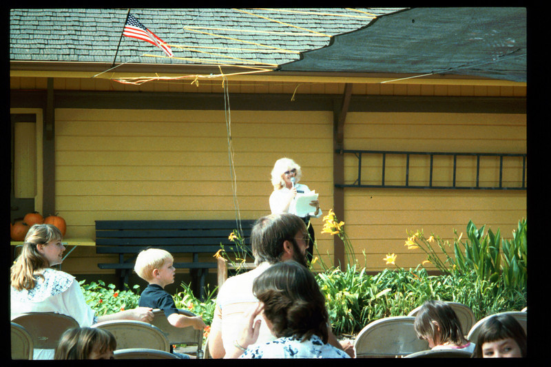 The 10th Annual Depot Day event (Phyllis Olsen) was held on Sunday, Oct. 10, 1992. acc2005.001.1684