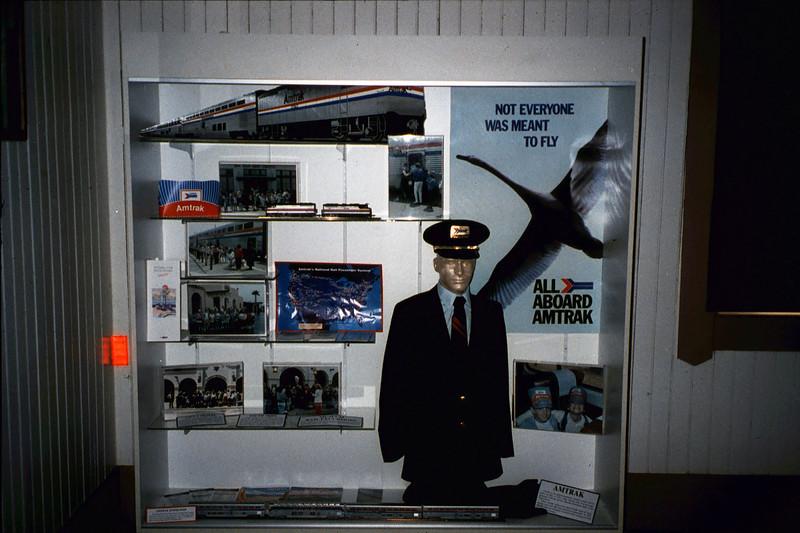 Waiting Room display focuses on Amtrak, Summer 1992. acc2005.001.1665