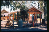 Improvements to the museum grounds in 1998 included concrete walkways to the train-ride boarding area and picnic area, and a new entry structure to greet arriving visitors. acc2005.001.2188