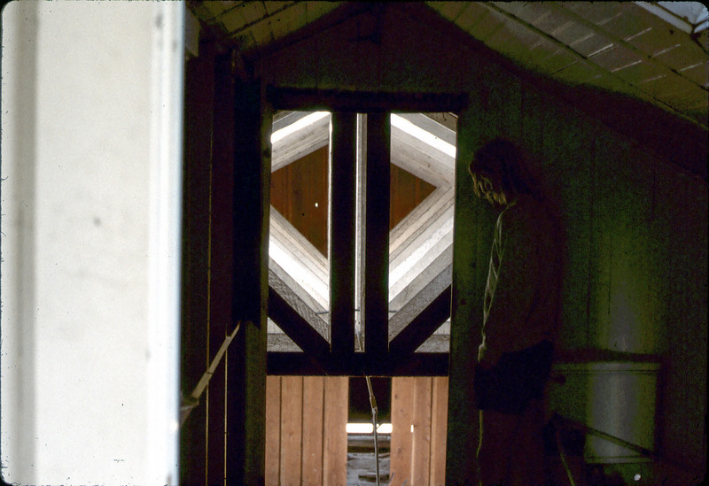 View of Freight Room from 2nd floor, 4/3/1982. acc2005.001.0204