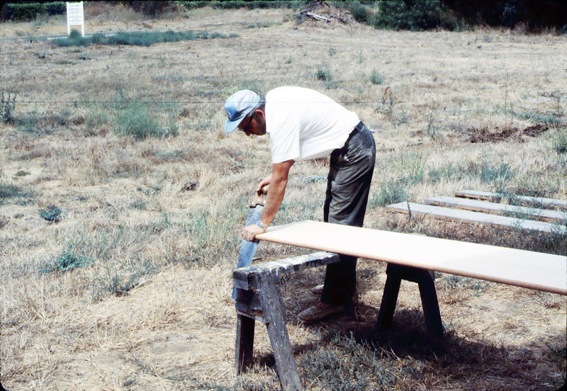 Ralph Moore building new express counter for Freight Office, 7/1983 or 8/1983. acc2005.001.0384
