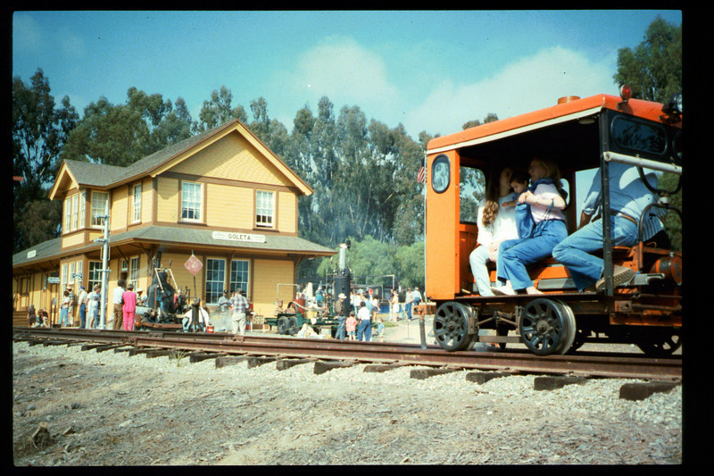 The 10th Annual Depot Day event (Bob Mahan speeder rides) was held on Sunday, Oct. 10, 1992. acc2005.001.1688