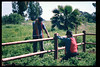 Under supervision of Gene Allen, County SWAP workers add new fencing to museum grounds. The work was begun in Feb. 1998 and completed March 7. Reported in the museum's Depot Dispatch newsletter, Vol 18, No. 1 (Spring 1998). acc2005.001.2155