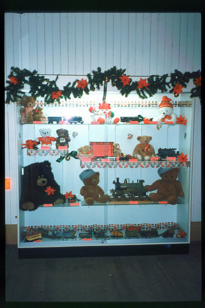 "Holiday display, ""Toy Trains & Teddy Bears,"" began in 1991. This photo is from the 1993 edition, which opened Nov. 26th. acc2005.001.1889"