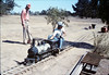 Santa Barbara Railroad Centennial (Steve Kramer, engineer), 8/1987 acc2005.001.0853