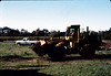 Banner Construction crew grades in preparation for standard-gauge track construction in front of Goleta Depot, 1/1985. acc2005.001.0456