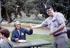 Asphalt Regatta spring fundraiser (Al Jaramillo and Jon Bartel), 4/1989. acc2005.001.1098