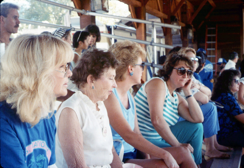 Museum group rides by rail to Calif. State Railroad Museum, Sacramento (Handcar Races), 9/1988. acc2005.001.1012
