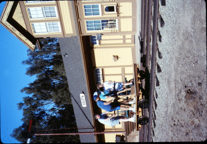 Handcar rides at museum begin, 11/1989. acc2005.001.1222
