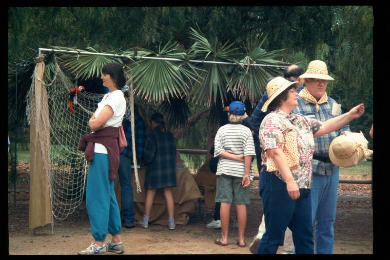"The Spring Fundraiser (14th annual) had a ""Too-Fari Safari"" theme, May 20, 1995. acc2005.001.2052"
