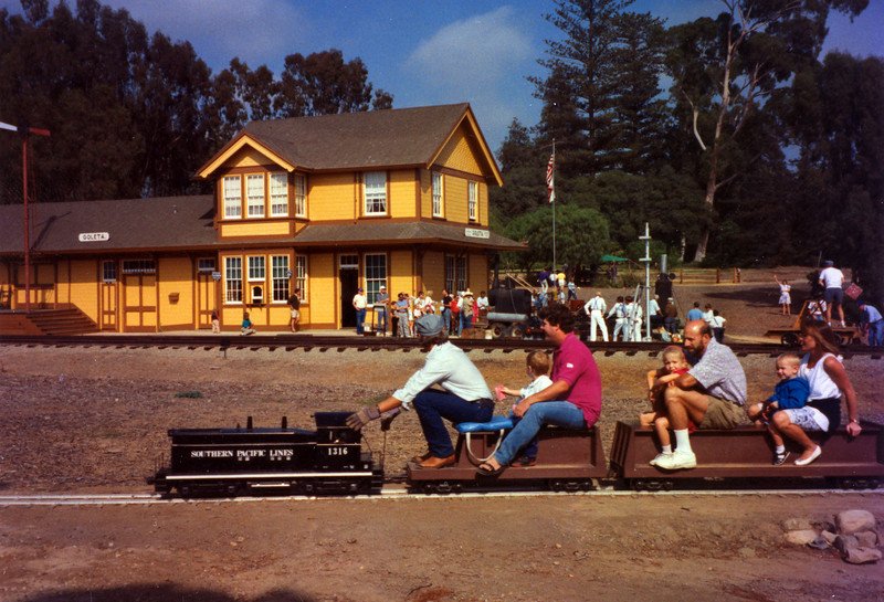 The 10th Annual Depot Day event (Ben Beede, train rides) was held on Sunday, Oct. 10, 1992. acc2005.001.1691