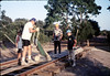 Hieter Family ballasting track at Goleta Depot, 1989. acc2005.001.1200