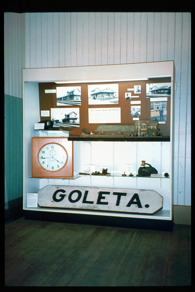 Waiting Room display features Goleta Depot and the country railroad station in America, Spring 1993. acc2005.001.1880
