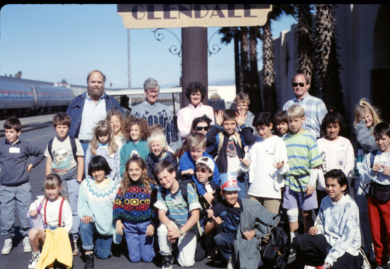 Foothill Elementary School 4th Grade trip to Glendale, 3/5/1990. acc2005.001.1266