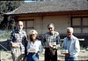 Depot bricks: Ray Baird, Phyllis Olsen, Gene Allen, George Adams, Feb. 1982. acc2005.001.0143