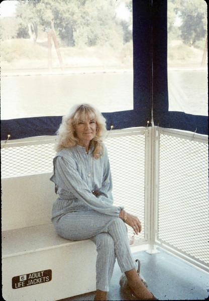 Phyllis Olsen at Old Sacramento, 9/20/1987. acc2005.001.0874