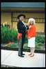 The traditional Santa Barbara Old Spanish Days Committee photograph was taken at Goleta Depot. The photo was published in the Santa Barbara News-Press on Aug. 1, 1993 (El Presidente Jim McCoy and Phyllis Olsen). acc2005.001.1833