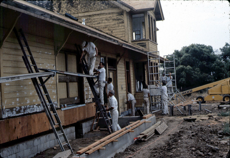 Painter's Union work day (#1), 8/28/1982. acc2005.001.0299