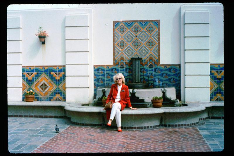 Phyllis Olsen at Los Angeles Union Station, 1992. acc2005.001.1591