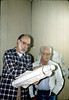 Ray Baird and George Adams, Feb. 1982. acc2005.001.0146