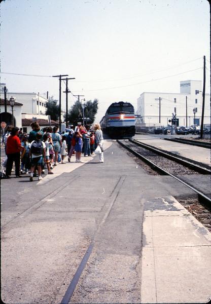 San Luis Obispo school rail trip, 5/3/1989. acc2005.001.1135