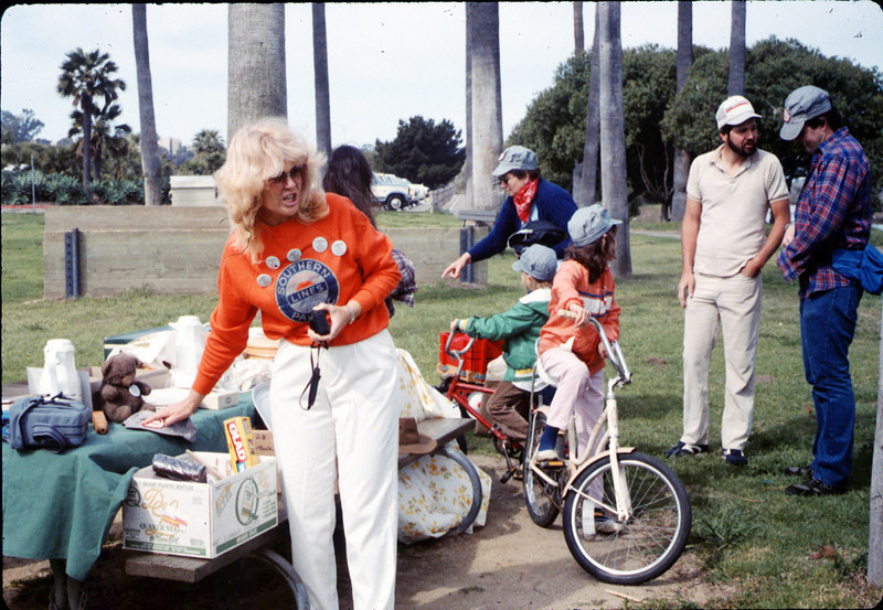 Phyllis Olsen and Moore Family members at Asphalt Regatta spring fundraiser, 3/14/1987. acc2005.001.0721