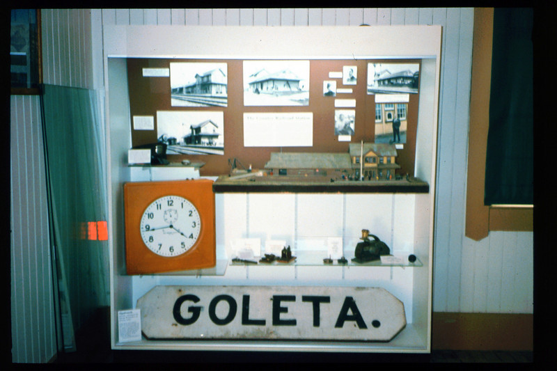 Waiting Room display features Goleta Depot and the country railroad station in America, Spring 1993. acc2005.001.1878