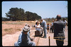 Wedding party rides the miniature train during Steaming Summer, 1991. acc2005.001.1477