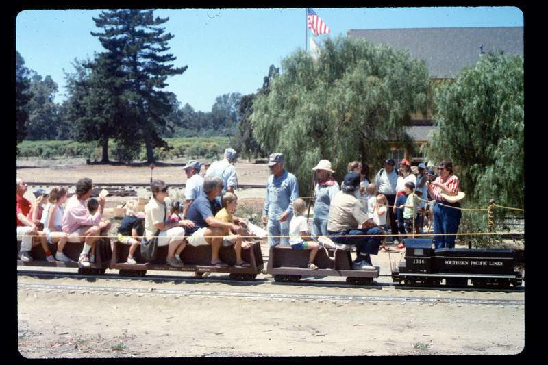 At the museum on the 4th of July (Engineer Al Jaramillo, Ed Winnewisser, Gene Allen), 7/4/1990. acc2005.001.1372