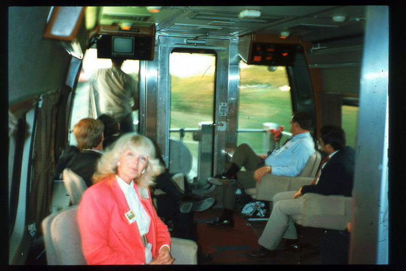 Museum Director Gary Coombs and Assistant Director Phyllis Olsen rode the inaugural cross-country Sunset Limited train, Los Angeles-to-Miami and return, as guests of Amtrak, March 28-April 6, 1993. acc2005.001.1767
