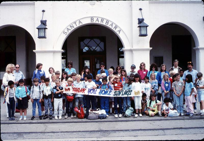 San Luis Obispo school rail trip, 5/3/1989. acc2005.001.1126