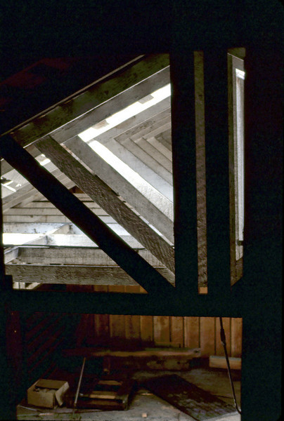 View of Freight Room from 2nd floor, 4/3/1982. acc2005.001.0203