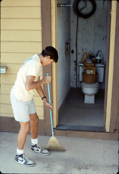 Steve Kramer at work, Work Day, 3/1988. acc2005.001.0913