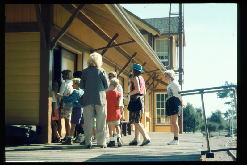 Cox Cable began sponsoring free train rides for visiting school groups in Oct. 1993. acc2005.001.1907