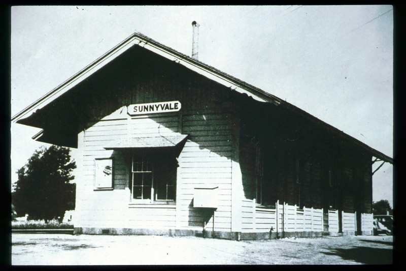 The Sunnyvale, Calif. depot building formerly served as the original 1887 Goleta depot. acc2005.001.1791