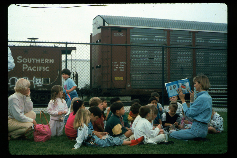 In Spring 1992, the museum led four school rail excursions. See Depot Dispatch, Vol. 12, No. 2 (Summer 1992) for details. 1992. acc2005.001.1638