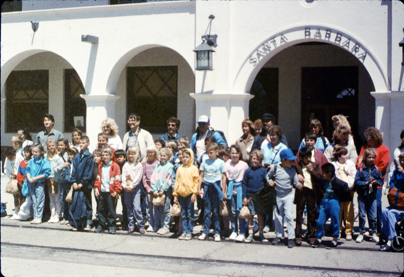 La Patera Elementary School rail trip, 5/6/1988. acc2005.001.0956