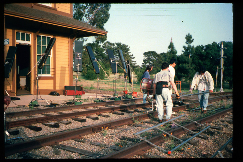 Janet Howard, a graduate student in the film program at the University of Southern California (USC) used Goleta Depot as the principle location for her master's thesis film, May 1998. Reported in the museum's Depot Dispatch newsletter, Vol 18, No. 2 (Summer 1998). acc2005.001.2168