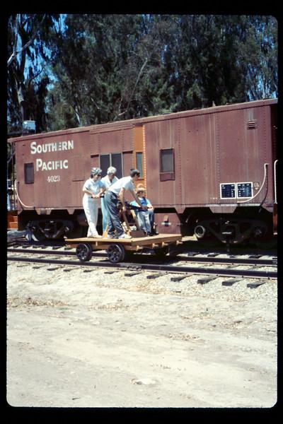 Handcar rides, 6/1990. acc2005.001.1358