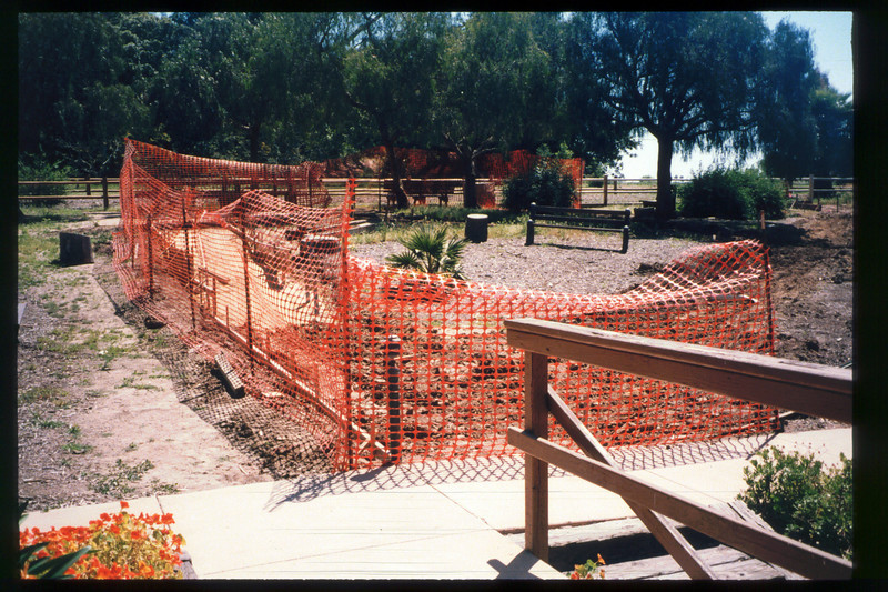 Improvements to the museum grounds in 1998 included concrete walkways to the train-ride boarding area and picnic area, and a new entry structure to greet arriving visitors. acc2005.001.2184