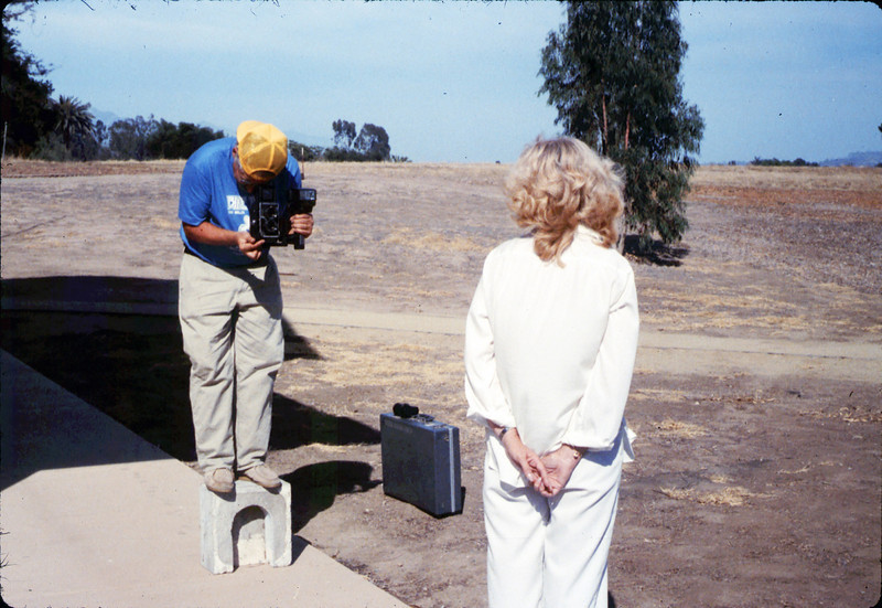 Dave Hieter photographs Phyllis Olsen, 1989. acc2005.001.1193