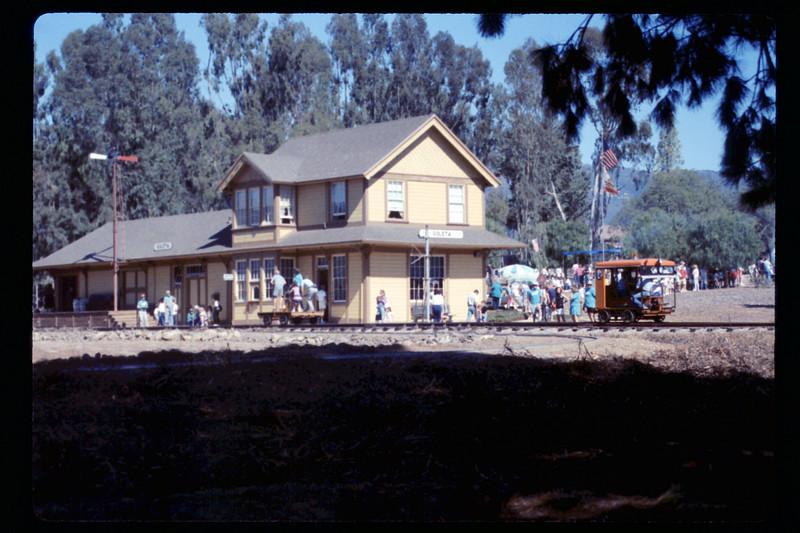 Depot Day handcar & speeder rides, 10/1990. acc2005.001.1416