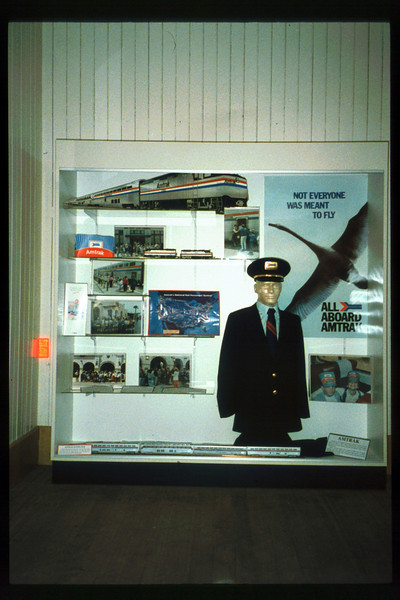 Waiting Room display focuses on Amtrak, Summer 1992. acc2005.001.1666