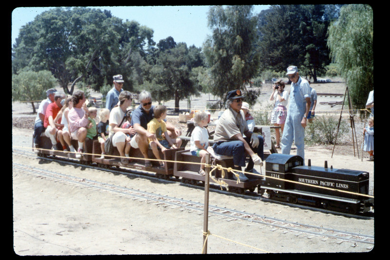 At the museum on the 4th of July (Engineer Al Jaramillo, Ed Winnewisser, Gene Allen), 7/4/1990. acc2005.001.1371