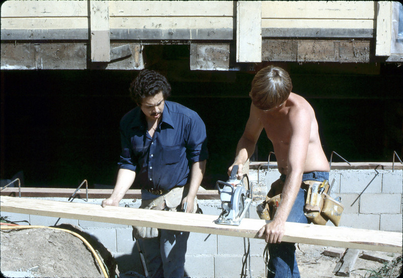 Apprentice carpenters, Feb. 1982. acc2005.001.0156
