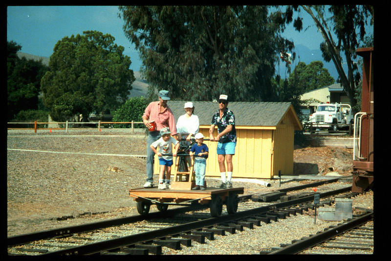 The 10th Annual Depot Day event (handcar rides) was held on Sunday, Oct. 10, 1992. acc2005.001.1683