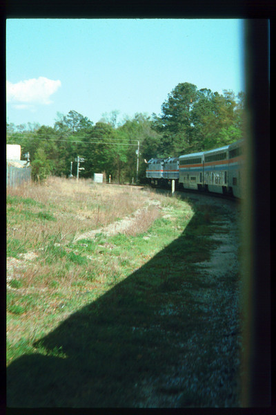 Museum Director Gary Coombs and Assistant Director Phyllis Olsen rode the inaugural cross-country Sunset Limited train, Los Angeles-to-Miami and return, as guests of Amtrak, March 28-April 6, 1993. acc2005.001.1753