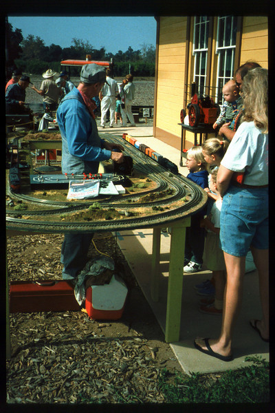 The 10th Annual Depot Day event (Gene Rantanen trains) was held on Sunday, Oct. 10, 1992. acc2005.001.1668